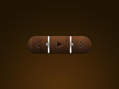 Кнопка для сайта или лендинга в натуральном стиле из дерева с металлическими вставками